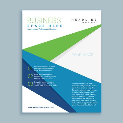 modern green and blue business brochure flyer design template