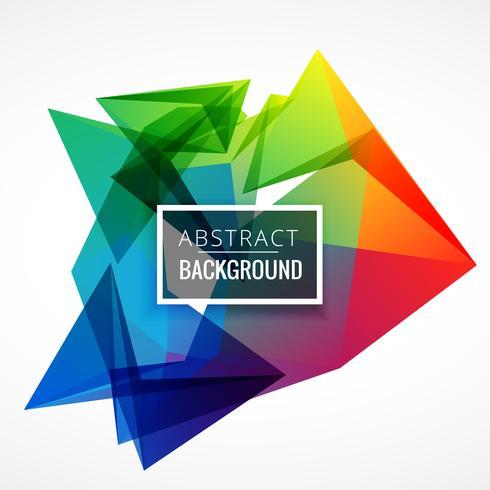 design de fond abstrait cadre coloré