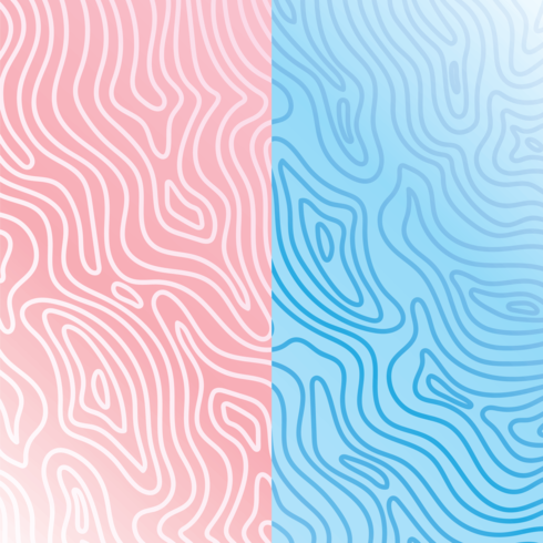 Pink and Blue Woodgrain