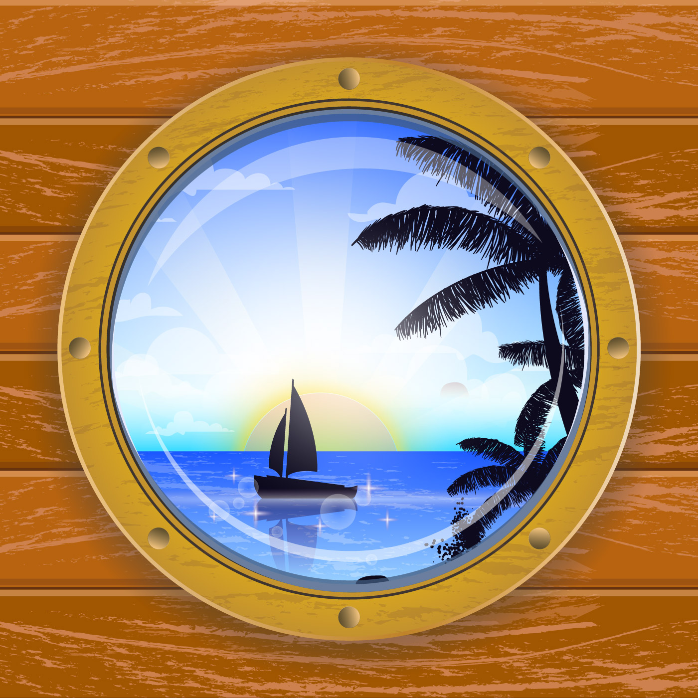 Ship Window Free Vecto...