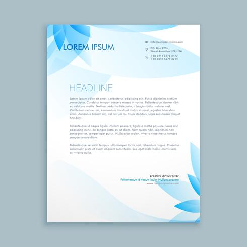 business letterhead stationary template vector design illustrati