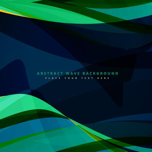 abstract wave background design in dark color