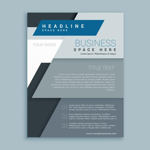 corporate business brochure vector design template