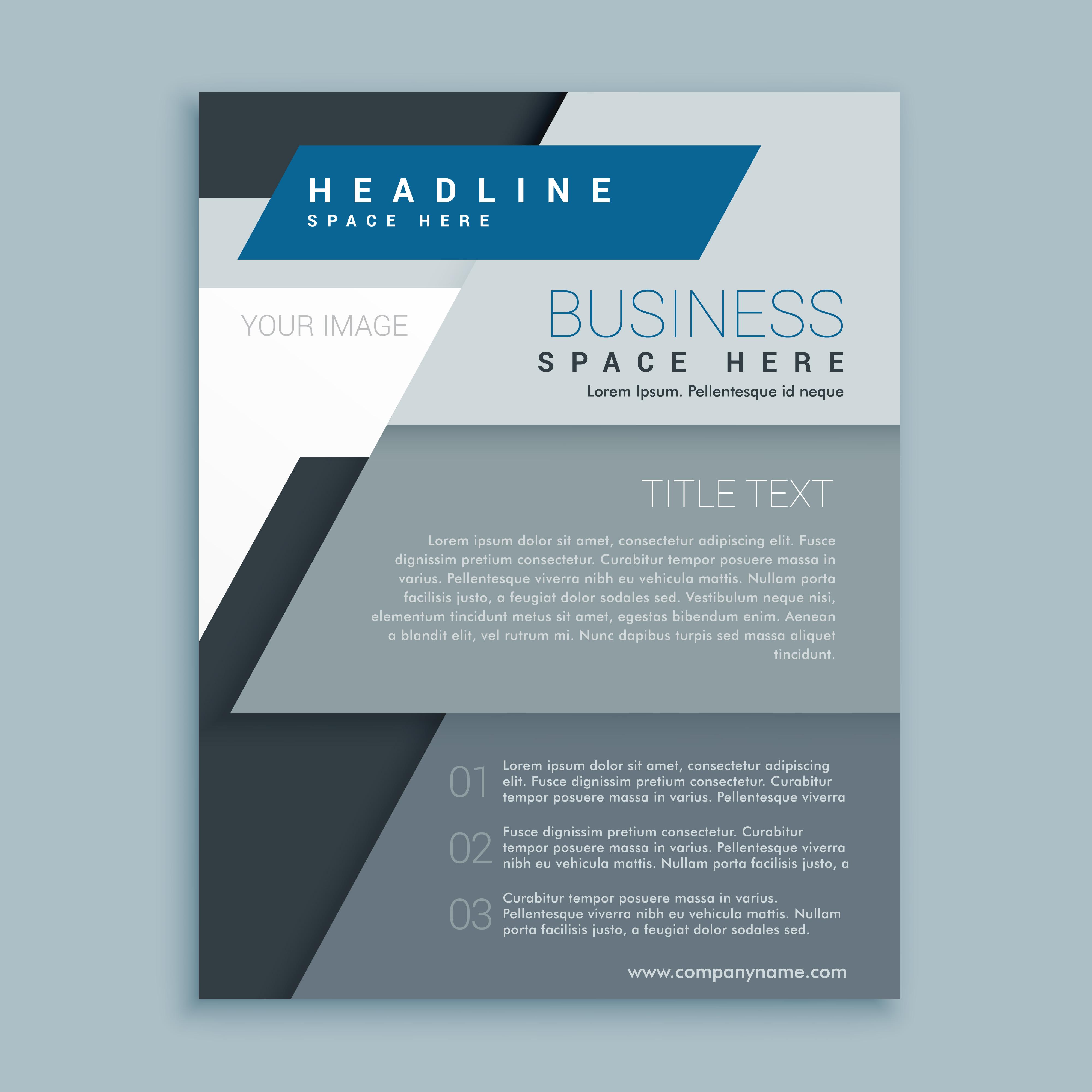 corporate brochure template free - corporate business brochure vector design template