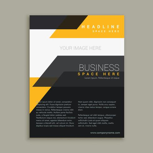 stylish business flyer brochure design