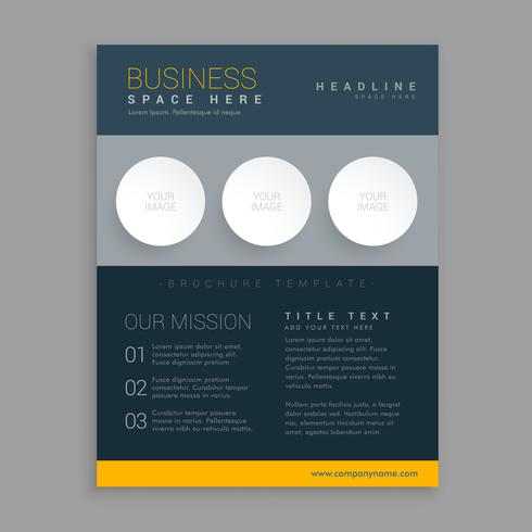 modern dark brochure design in simple geometric shapes