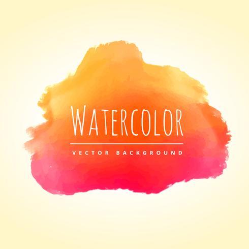 orange pink watercolor stain vector design illustration