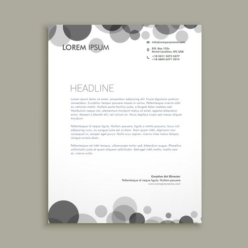 black dots corporate letterhead  template vector design illustra