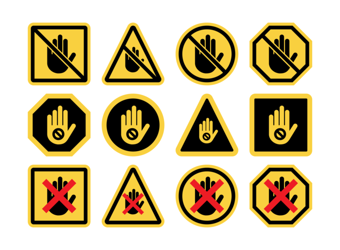 Do Not Touch Icon Vectors