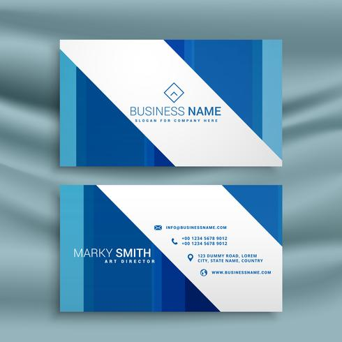 blue business card template for your company