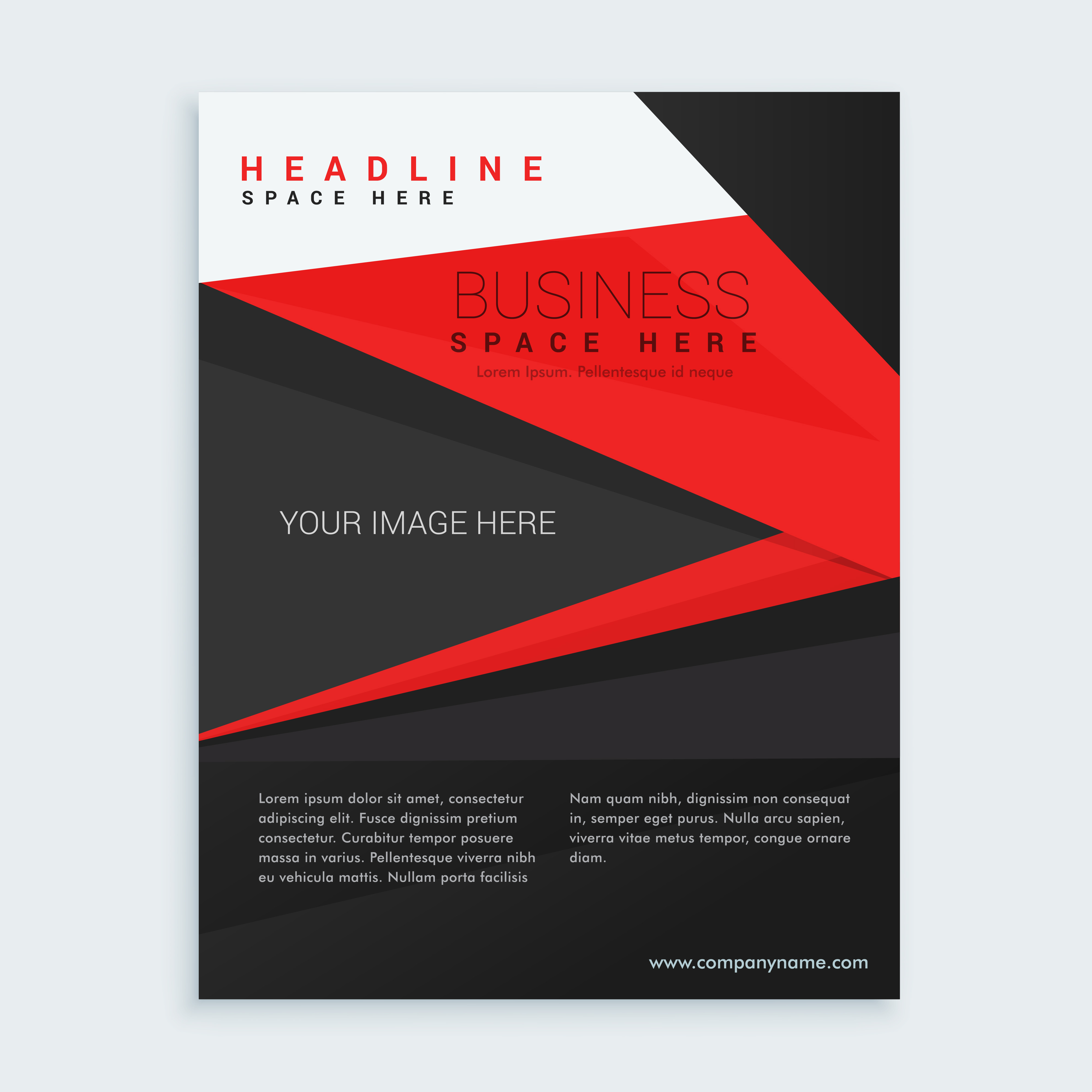 Red And Black Business Brochure Template Download Free Vector Art