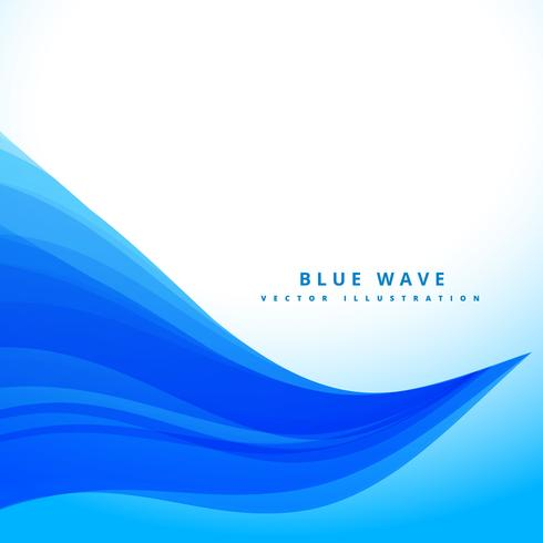 blue wavy flowing lines background design
