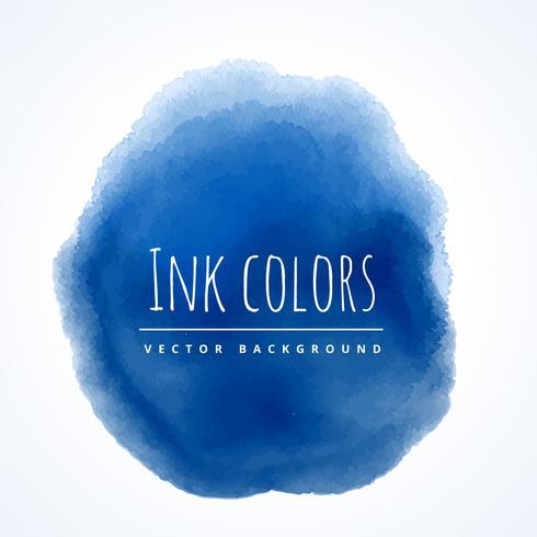 blå vattenfärg fläck stänk vektor design illustration