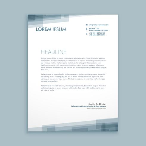 letterhead abstract business template vector design illustration