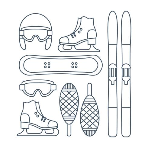 Vector Winter Sports Icon Set - Download Free Vector Art, Stock Graphics & Images
