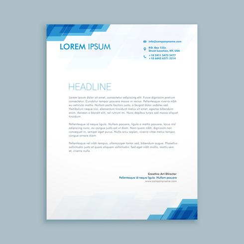 corporate letterhead presentation template vector design illustr