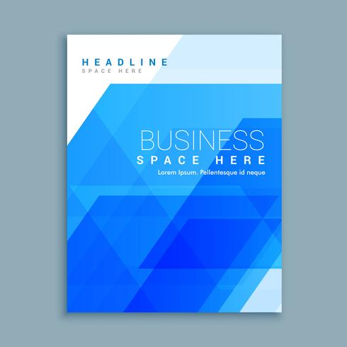 abstract business brochure design template