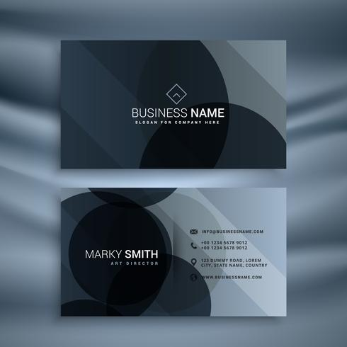 dark black business card design template