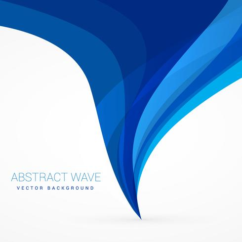 blue wave flowing from bottom to top vector design