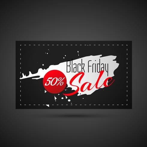 abstract black friday sale card