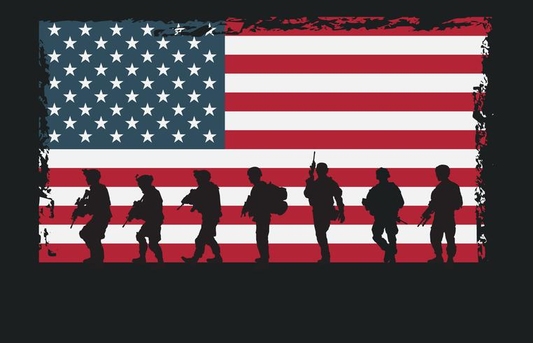 US Army Navy Seal Silhouettes vector