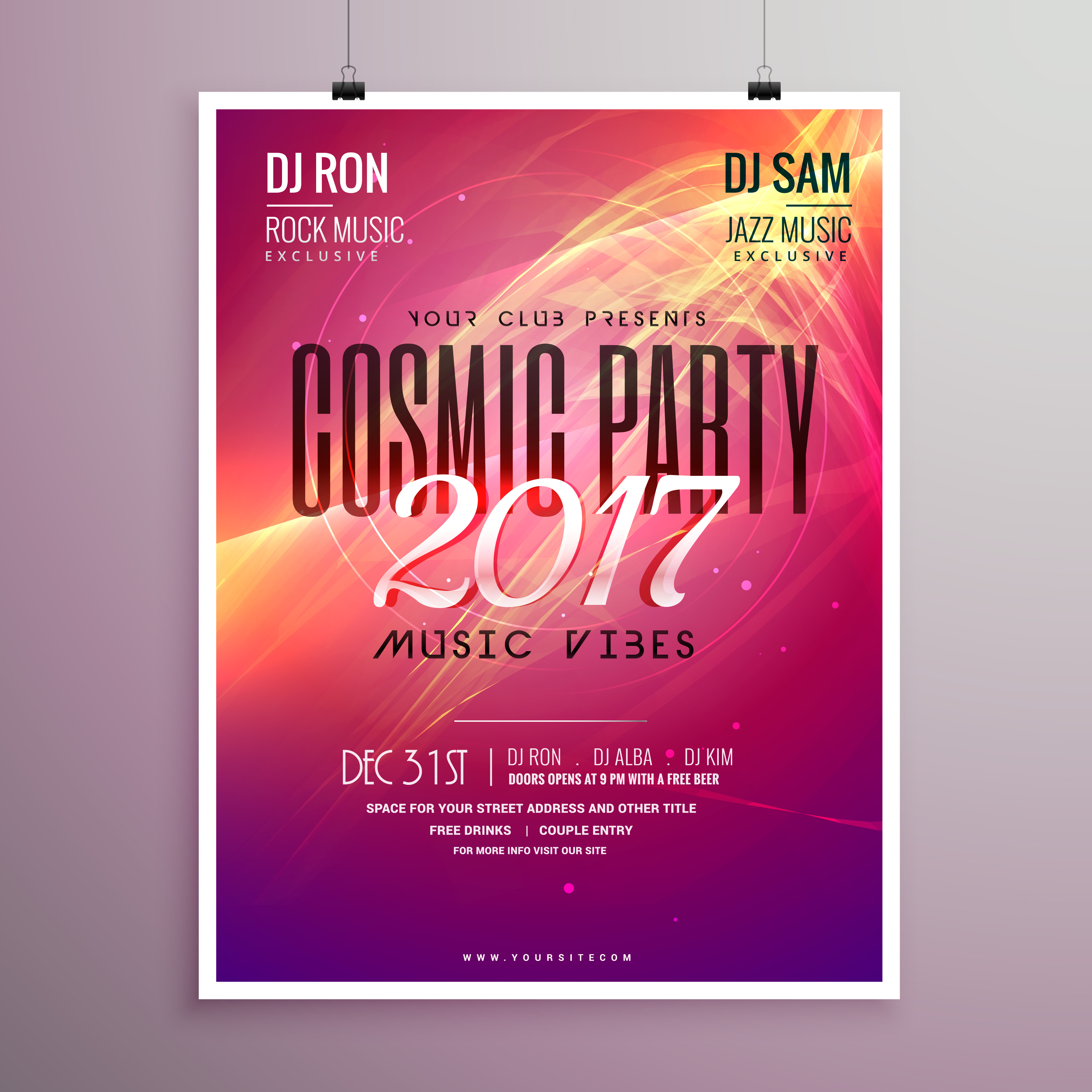 party brochure template - 2017 happy new year party event flyer template with