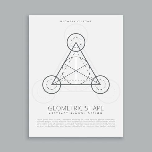 helig geometrisk alkymi symbolaffisch
