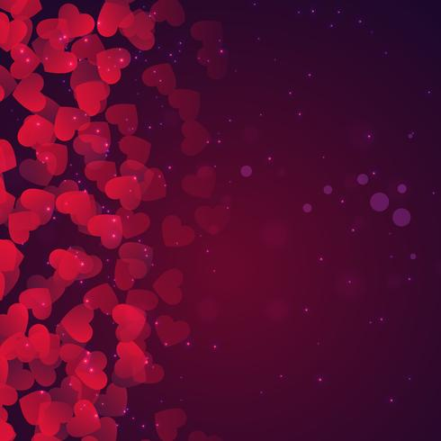 hearts background in purple vector design illustration