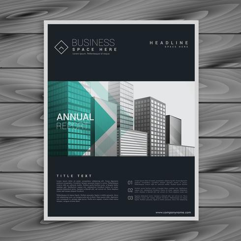 dark brochure flyer poster design template in a4 vector