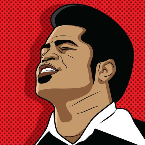 Red Popart James Brown Vector