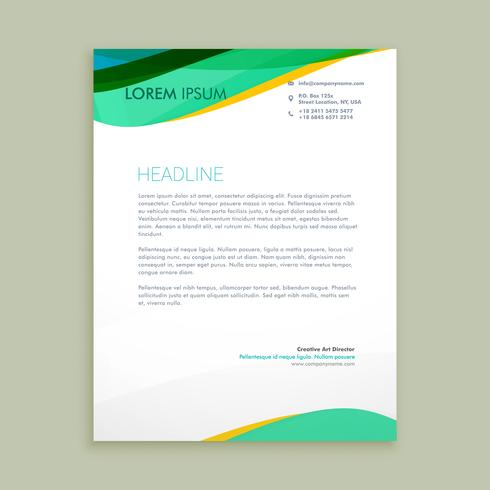 beautiful letterhead presentation template vector design illustr