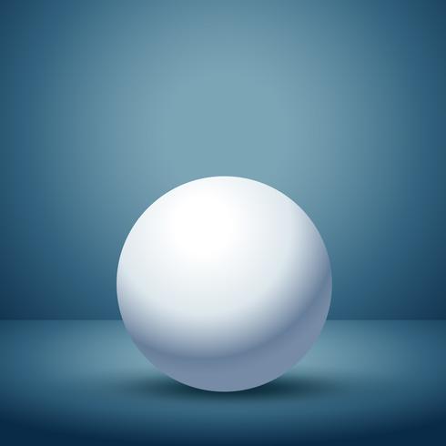 3d sphere in empty clean room