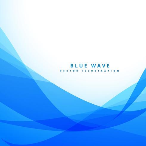 clean blue wave background design illustration