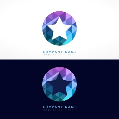abstract star logo design template illustration