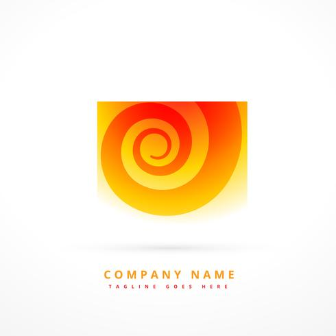 orange color abstract logo template design