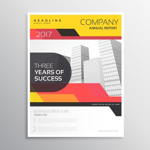 brand company business brochure or leaflet template design in ye