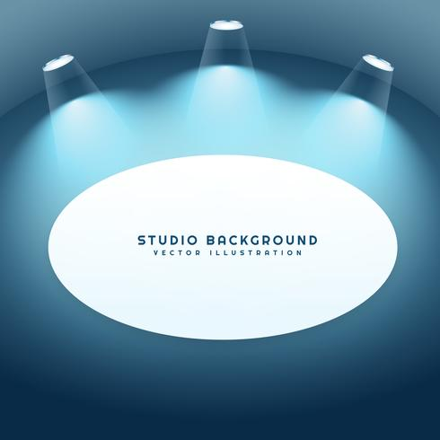 studio background with frame