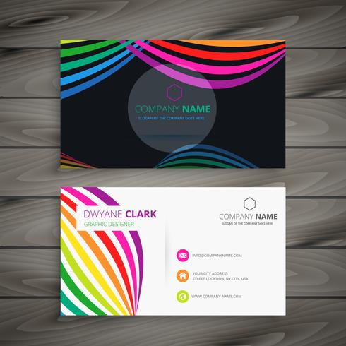 abstract color business card template vector design illustration
