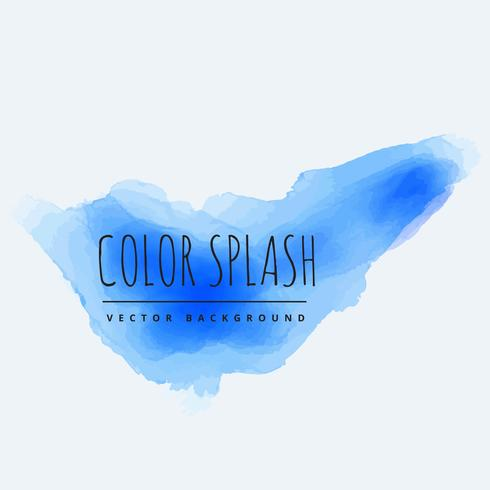 blue color splash of ink vector design illustration