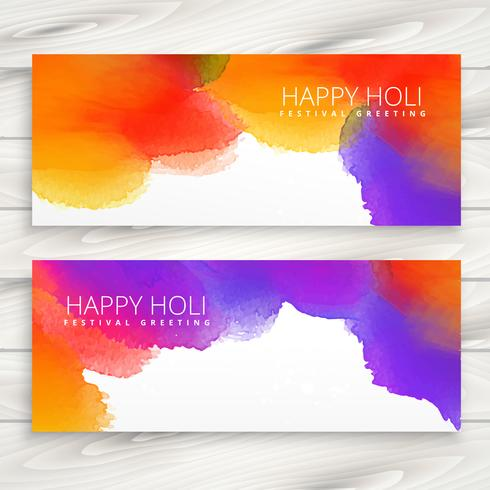colorful ink banners of holi festival