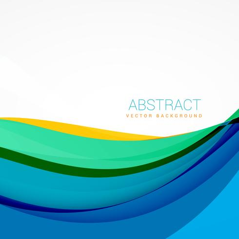 modern vector colroful waves background design
