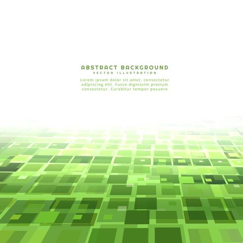 green perspective mosaic background