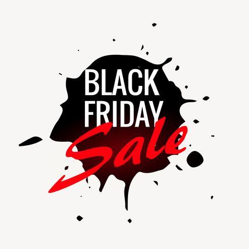 black friday sale label design in ink splash