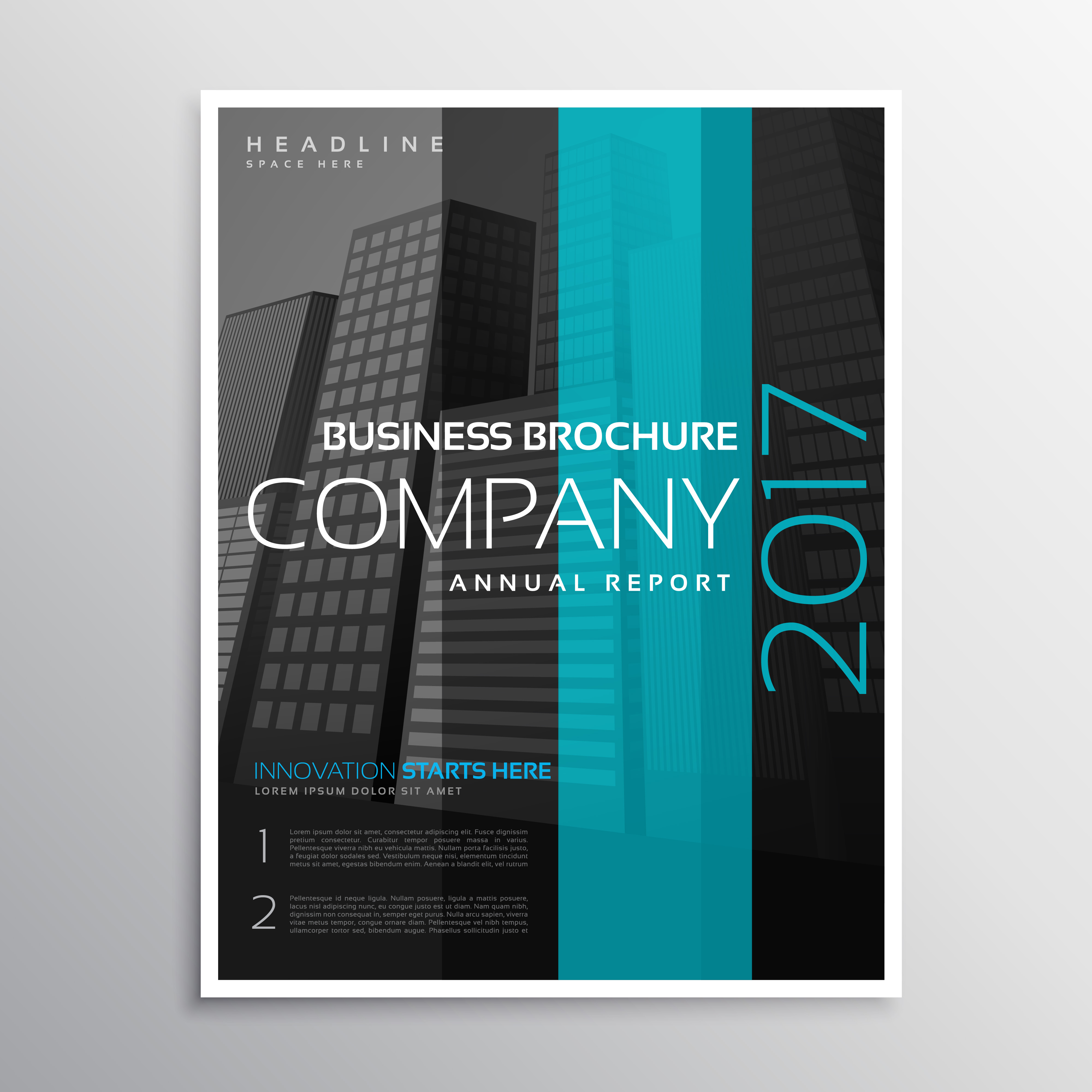 Art Calendar Business Magazine : Company business magazine cover template of annual report