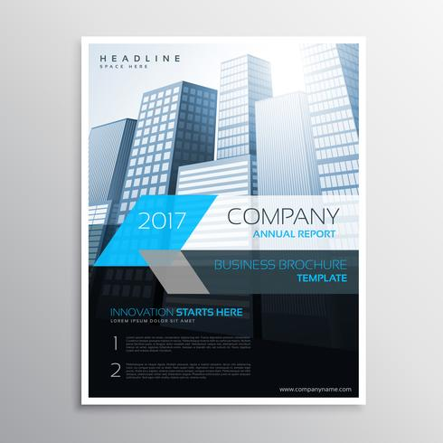 annual report brochure template cover presentation