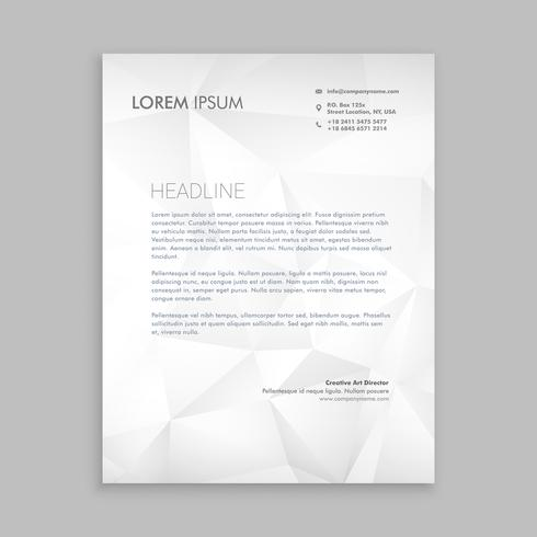 design de papel timbrado em papel estilo modelo vector design illustra