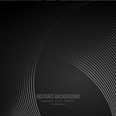 smooth curve lines in dark black background