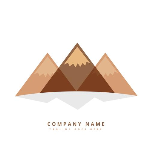 three mountain shapes design illustration