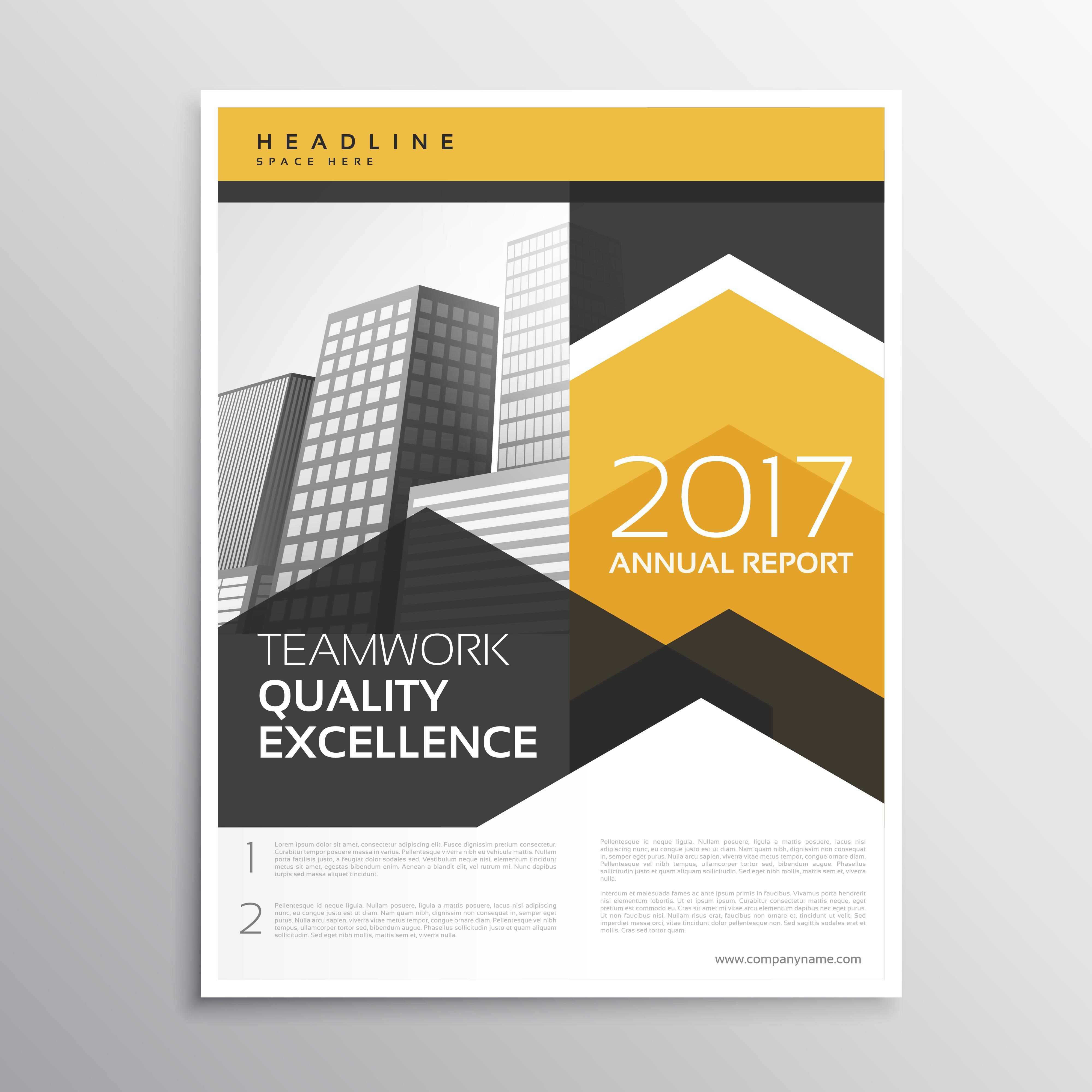 yellow annual report brochure template design