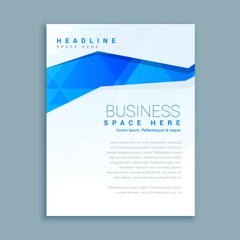 clean business brochure flyer template